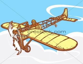 Bleriot in Flight