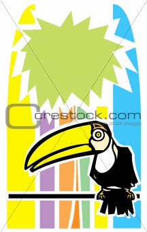Toucan and Palm Tree