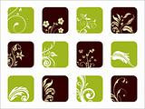vector florish pattern icons