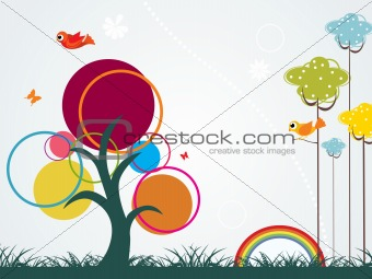 abstract garden pattern background