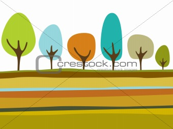 background with trees