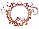 creative floral artwork frame