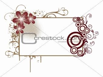 grungy floral banner illustration