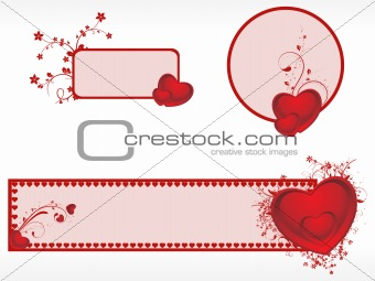 background with romantic banner
