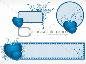 valentine day banner illustration