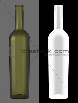 Green Wine Bottle