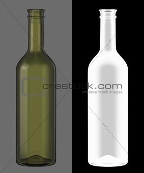 Green Wine Bottle