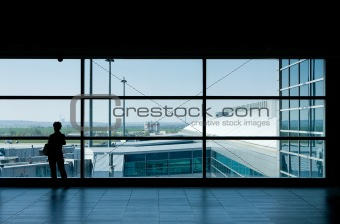 Airport lounge waiting area