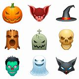 Vector halloween characters.