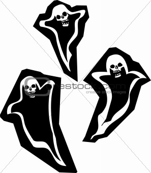 Three Skull Ghosts