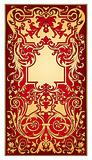 Red gold ornament vector