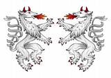 Heraldic panther vector