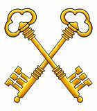 Golden keys vector