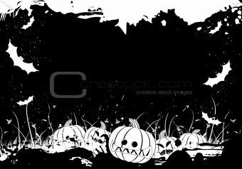 Grunge Halloween border