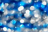 Silver and blue holiday lights