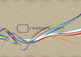 abstract rainbow wave line background
