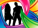 Couple Colorful Silhouette