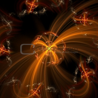 Abstract elegance background. Orange - black palette.