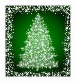christmas star  tree on green background
