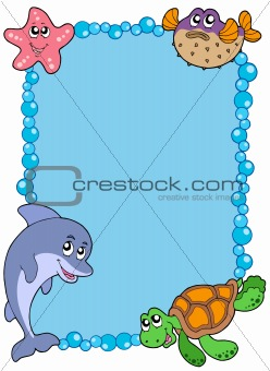 Frame with sea animals 1