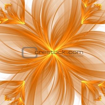 Abstract elegance background. Orange - white palette.