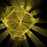 Abstract elegance background. Yellow - black palette.