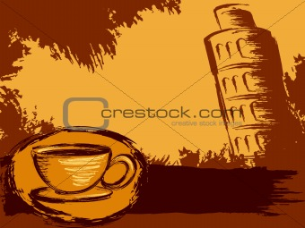 Grungy Italian coffee background