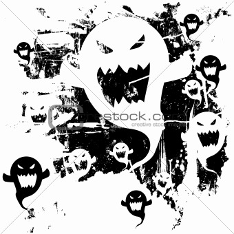 Messy Ghost Silhouettes