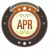April Month on Brown Button