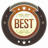 Word Best on Brown Button