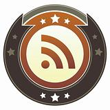 RSS Feed Icon on Brown Button