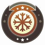 Snowflake on Brown Button