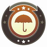 Umbrella on Brown Button