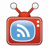 RSS Feed icon on retro TV