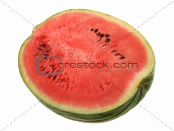 Single slice of ripe watermelon.