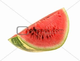 Single slice of ripe watermelon.