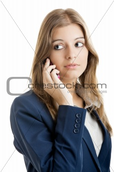 Business woman using a cell phone