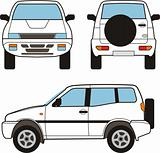 Car - small offroad, vector shapes