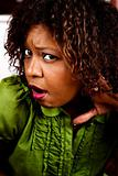 Pretty African American Woman Listening