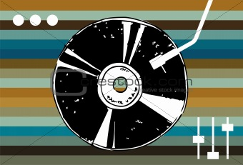 Disco music background.