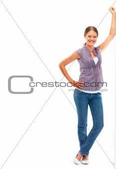 Portrait of a pretty woman posing on white background