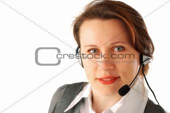 Beautiful call centre executive