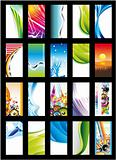 Abstract Background Card Collection - Set 2