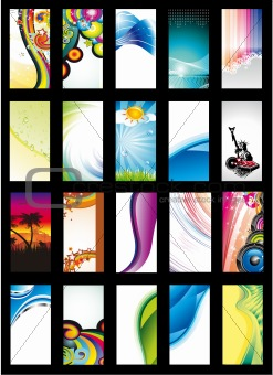 Abstract Background Card Collection - Set 3