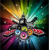 London Musical Event Background