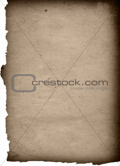 old paper textures isolated on white