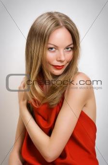 young woman closeup portrait