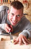 Young smiling carpenter