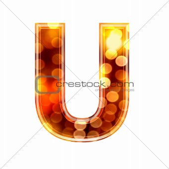 3d letter with glowing lights texture