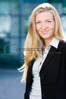 Blonde business woman